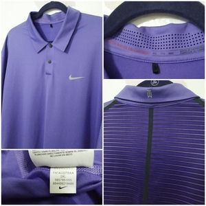NIKE Tiger Woods Collection Polo Golf Shirt Purple